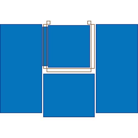 Sport-Thieme® Kletterhäuschen Nach rechts klappbar, Mit 5-teiligem Fallschutz-Mattensatz