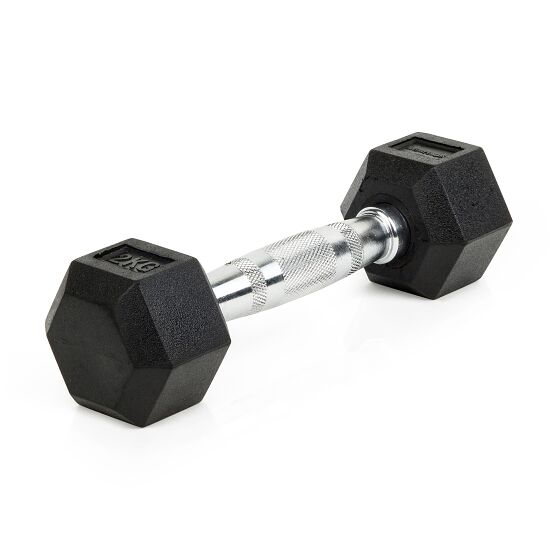 Sport-Thieme Kurzhantel Gummi Hex 2 kg