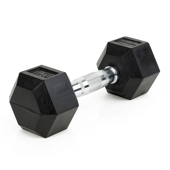 Sport-Thieme Kurzhantel Gummi Hex 6 kg