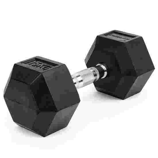 Sport-Thieme Kurzhantel Gummi Hex 15 kg