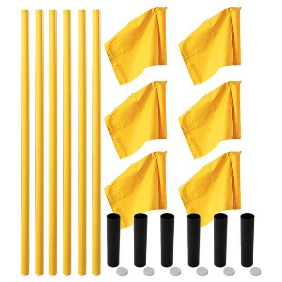 "Sport-Thieme Markeringsflags-sæt ""Allround"" Stang gul, fane neongul"