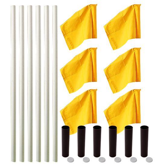 "Sport-Thieme® Markeringsflags-sæt ""Alround"" Stang hvid, fane neongul"