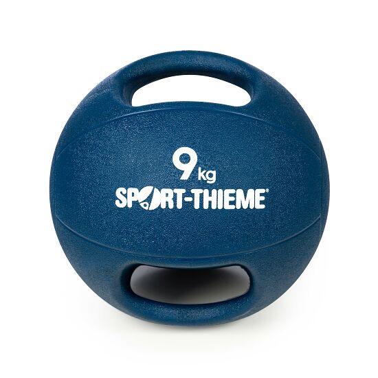 Sport-Thieme Medizinball  mit Griff 9 kg, Dunkelblau