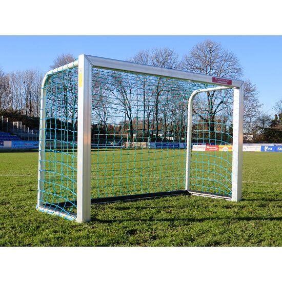 Sport-Thieme Mini Football Goal with PlayersProtect 1.20x0.80 m, Incl. net, blue (mesh width 10 cm)