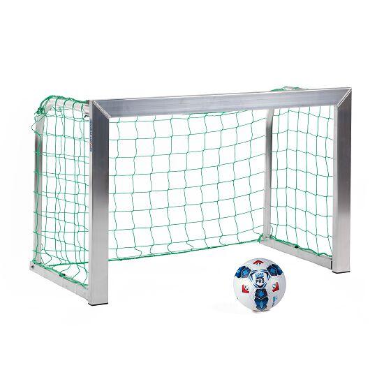 Sport-Thieme® Mini-Fußballtor, mit anklappbaren Netzbügeln 1,20x0,80 m, Tortiefe 0,70 m, Inkl. Netz, grün (MW 10 cm)