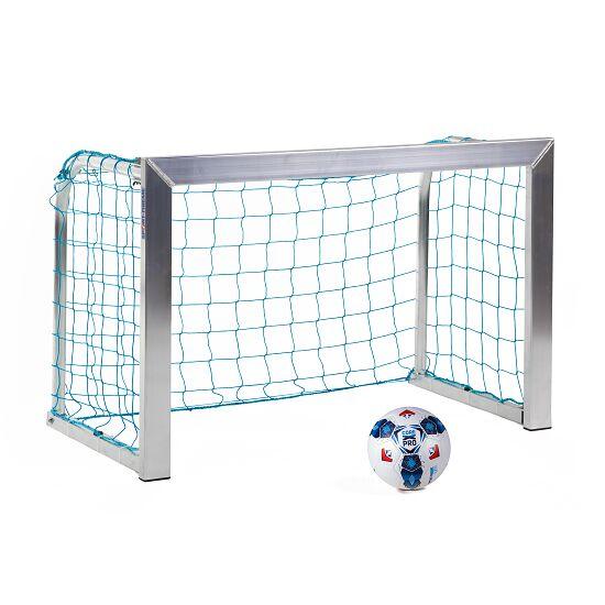 Sport-Thieme® Mini-Fußballtor, mit anklappbaren Netzbügeln 1,20x0,80 m, Tortiefe 0,70 m, Inkl. Netz, blau (MW 10 cm)