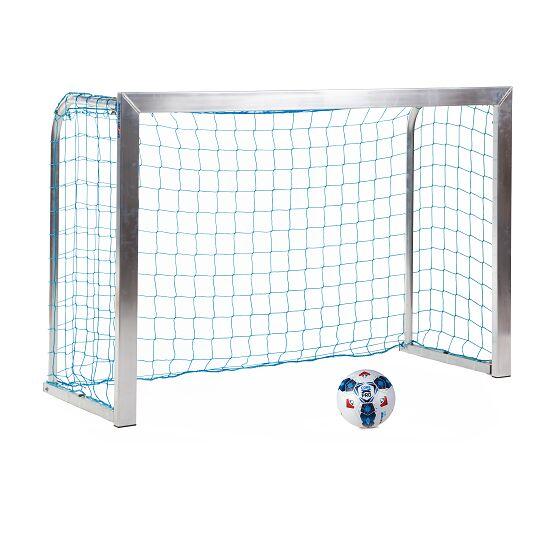 Sport-Thieme® Mini-Fußballtor, mit anklappbaren Netzbügeln 1,80x1,20 m, Tortiefe 0,70 m, Inkl. Netz, blau (MW 10 cm)
