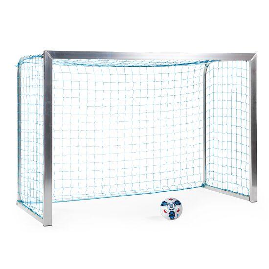 Sport-Thieme® Mini-Fußballtor, mit anklappbaren Netzbügeln 2,40x1,60 m, Tortiefe 1,00 m, Inkl. Netz, blau (MW 4,5 cm)