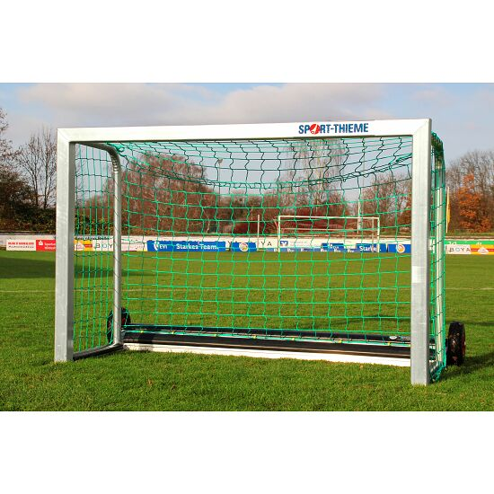 "Sport-Thieme® Mini-Fußballtor ""Safety"" mit PlayersProtect 1,20x0,80 m, Inkl. Netz, grün (MW 10 cm)"