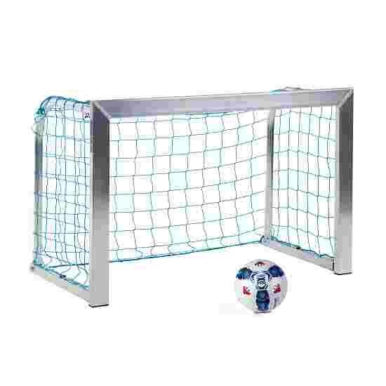 Sport-Thieme Mini-træningsmål med sammenklappelige netbøjler 1,20x0,80 m, Måldybde 0,70 m, Inkl. net, blå (maskestr. 10 cm)