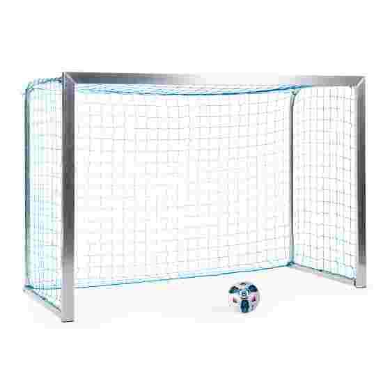 Sport-Thieme Mini-træningsmål med sammenklappelige netbøjler 2,40x1,60 m, Måldybde 1,00 m, Inkl. net, blå (maskestr.4,5 cm)
