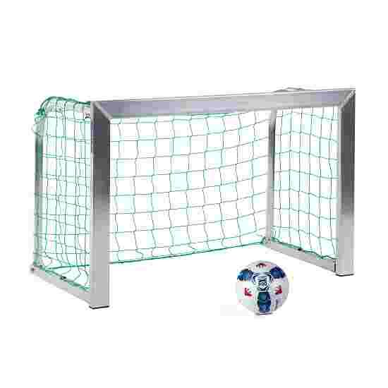 Sport-Thieme Mini Training Goal with Folding Net Brackets 1.20×0.80 m, goal depth 0.70 m, Incl. net, green (mesh width 10 cm)
