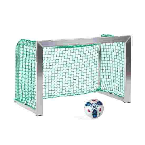 Sport-Thieme Mini Training Goal with Folding Net Brackets 1.2x0.8 m, goal depth 0.7 m, Incl. net, green (mesh width 4.5 cm)