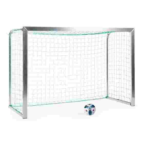 Sport-Thieme Mini Training Goal with Folding Net Brackets 2.40×1.60 m, goal depth 1.00 m, Incl. net, green (mesh width 10 cm)