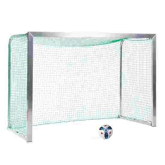 Sport-Thieme Mini Training Goal with Folding Net Brackets 2.40×1.60 m, goal depth 1.00 m, Incl. net, green (mesh width 4.5 cm)