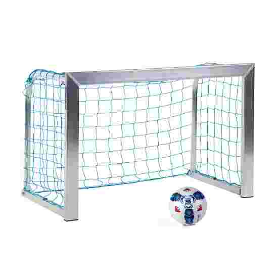 Sport-Thieme Mini Training Goal with Folding Net Brackets 1.20x0.80 m, goal depth 0.70 m, Incl. net, blue (mesh width 10 cm)