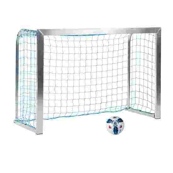 Sport-Thieme Mini Training Goal with Folding Net Brackets 1.8×1.2 m, goal depth 0.7 m, Incl. net, blue (mesh width 10 cm)