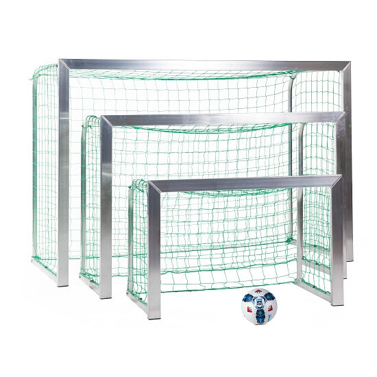 Sport-Thieme® Mini-Trainingstor, mit anklappbaren Netzbügeln 1,20x0,80 m, Tortiefe 0,70 m, Inkl. Netz, grün (MW 10 cm)