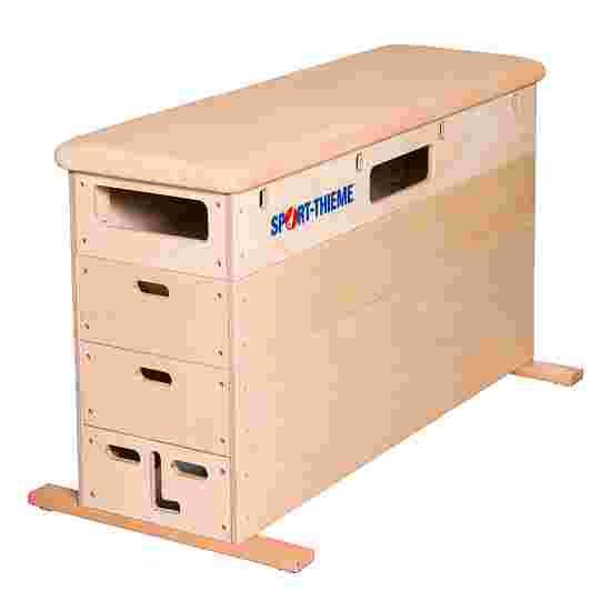 "Sport-Thieme ""Multiplex"" 4-Part Vaulting Box Without swivel castor kit, Leather cover"
