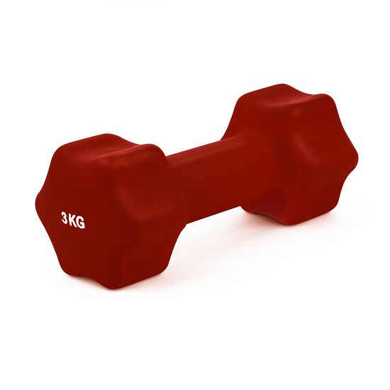 Sport-Thieme Neoprene Dumbbell 3 kg, bordeaux
