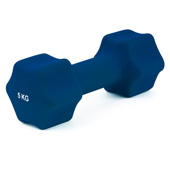 Sport-Thieme Neoprene Dumbbell 5 kg, dark blue