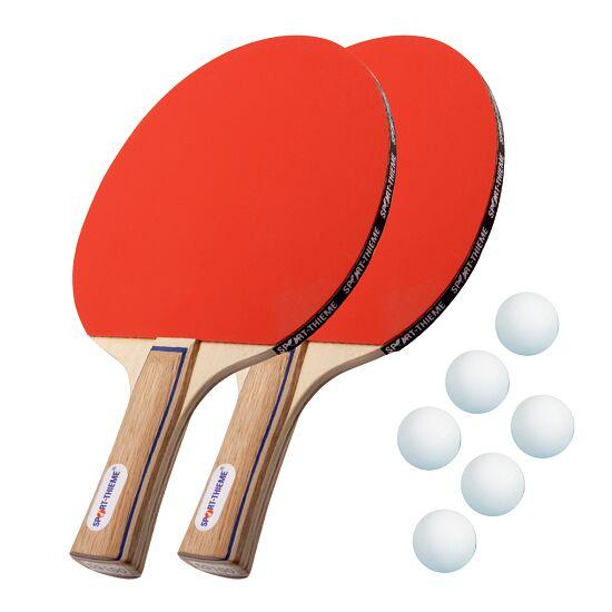 "Sport-Thieme® ""Paris"" Table Tennis Bat Set  White balls"