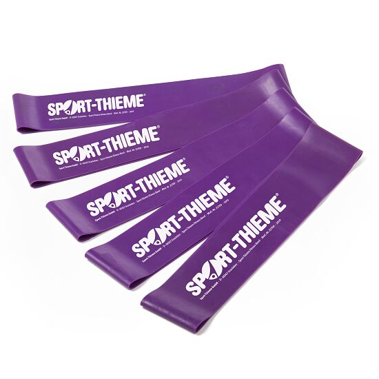 Sport-Thieme Performer Rubberbands 5er Set Violett, stark