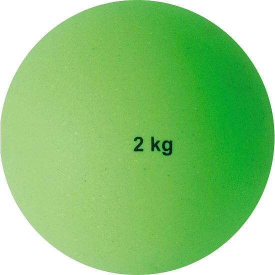 Sport-Thieme® Plastic Shot Put 2 kg, green, ø 114 mm