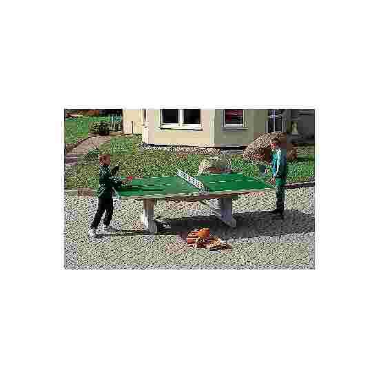 """Sport-Thieme Polymerbeton-Tischtennisplatte """"Premium"""" Grün, Kurzer Fuß, freistehend"""