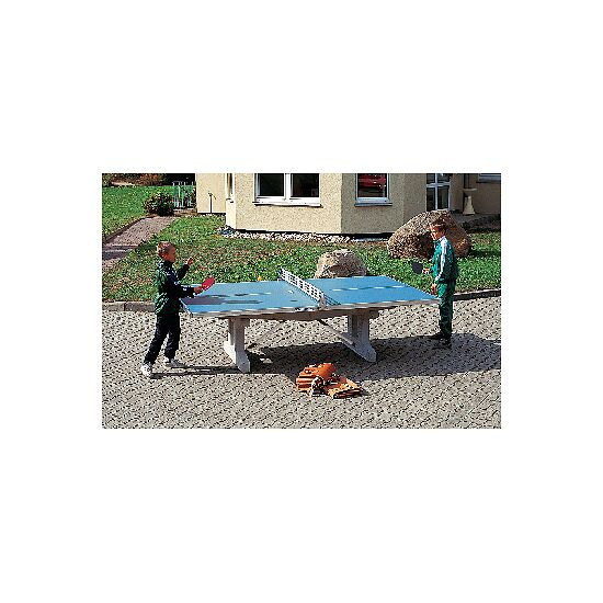 "Sport-Thieme® ""Premium"" Polymer Concrete Table Tennis Table Blue, Short legs, free-standing"