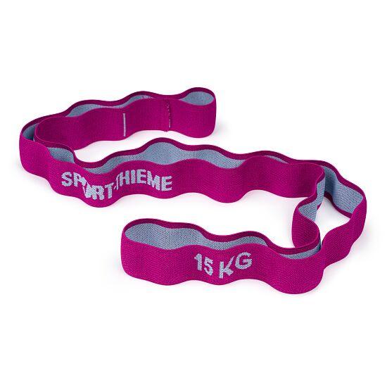 "Sport-Thieme ""Ring"" Elasticated Textile Powerband 15 kg, purple/grey"
