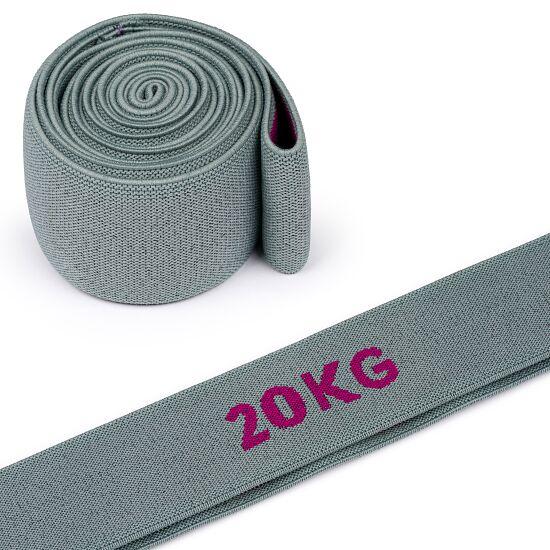 "Sport-Thieme ""Ring"" Elasticated Textile Powerband 20 kg, grey/purple"