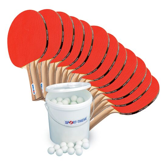 "Sport-Thieme® ""Rome"" Table Tennis School Set White balls"