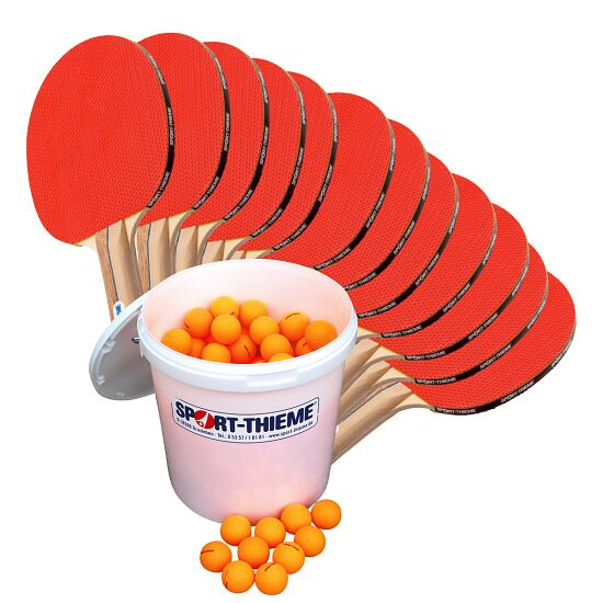 "Sport-Thieme® ""Rome"" Table Tennis School Set Orange balls"