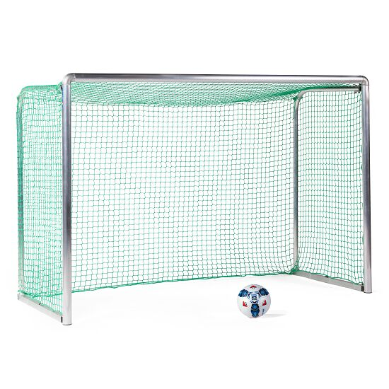 Sport-Thieme Safety Aluminium Mini Training Goal 2.40x1.60 m, goal depth 1.00 m, Incl. net, green (mesh width 4.5 cm)