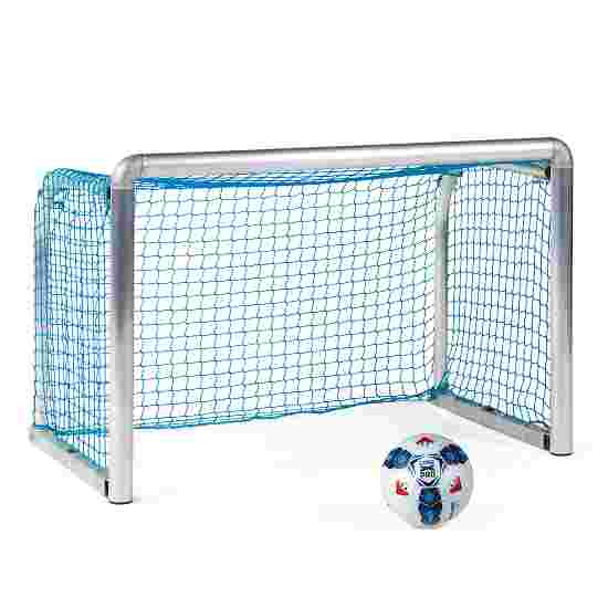 Sport-Thieme Safety Aluminium Mini Training Goal 1.2x0.8 m, goal depth 0.7 m, Incl. net, blue (mesh width 4.5 cm)