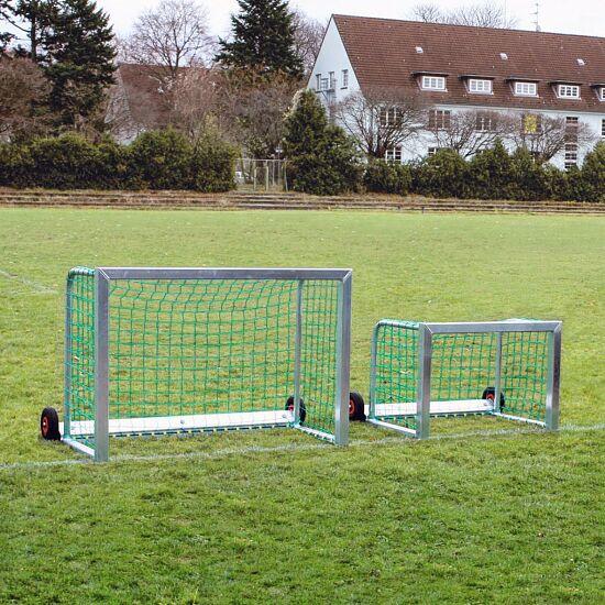 """Sport-Thieme® """"Safety"""" Mini Football Goal 1.20x0.80 m, Incl. net, green (mesh width 10 cm)"""