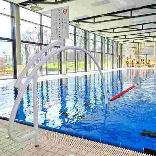 """Sport-Thieme Schwimmautobahn """"Competition"""",  inkl. Durchschwimmbögen Aluminium, weiß 25 m, Mit Bodenhülsen"""