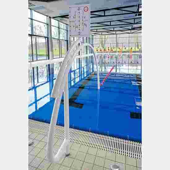 """Sport-Thieme Schwimmautobahn """"Trennleine"""", inkl. Durchschwimmbögen Aluminium, Weiß Hallenbad, 25 m, mit Bodenhülsen"""
