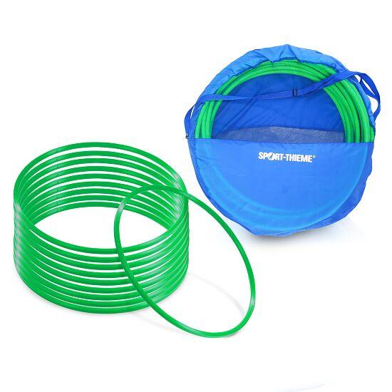 Sport-Thieme® Set Gymnastikreifen ø 80 cm plus Aufbewahrungstasche Grün
