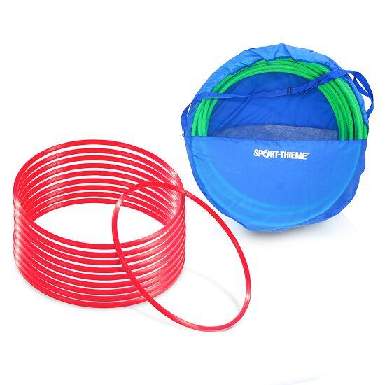 Sport-Thieme® Set Gymnastikreifen ø 80 cm plus Aufbewahrungstasche Rot