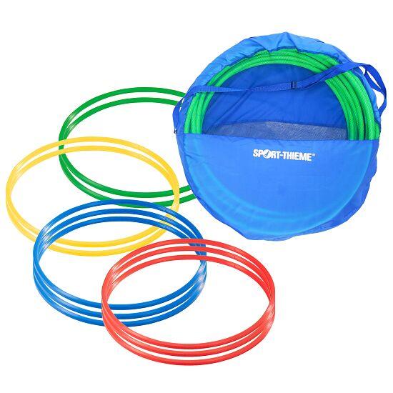 Sport-Thieme® Set Gymnastikreifen ø 80 cm plus Aufbewahrungstasche Bunt