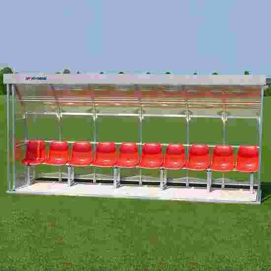 Sport-Thieme Spielerkabine für 10 Personen Sitzbank, Acrylglas