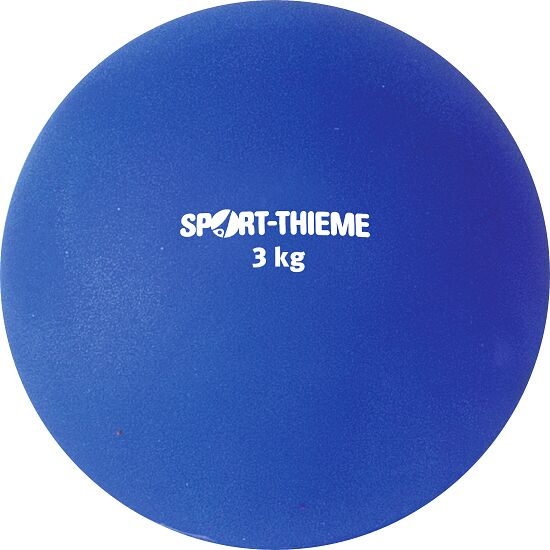 Sport-Thieme® Stødkugle af Kunststof 3 kg, blå, ø 121 mm