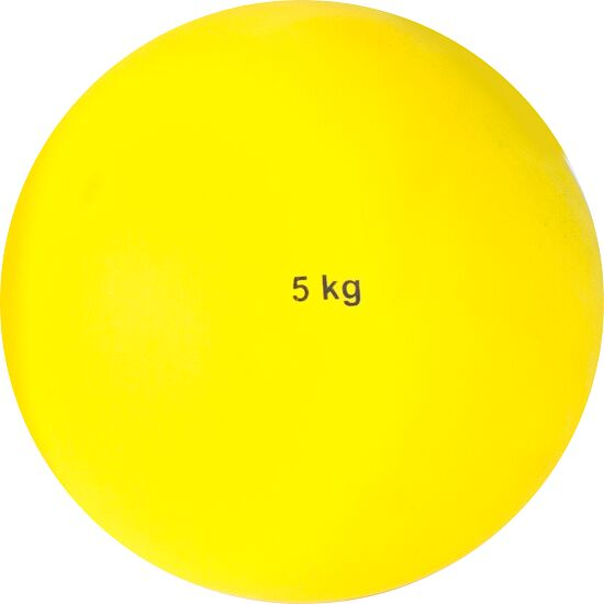 Sport-Thieme® Stødkugle af Kunststof 5 kg, gul, ø 135 mm