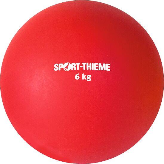 Sport-Thieme Stødkugle  Af Kunststof 6 kg, rød, ø 140 mm