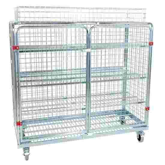 "Sport-Thieme ""Standard"" Shelved Trolley Incl. additional railing, 150×140×62 cm"