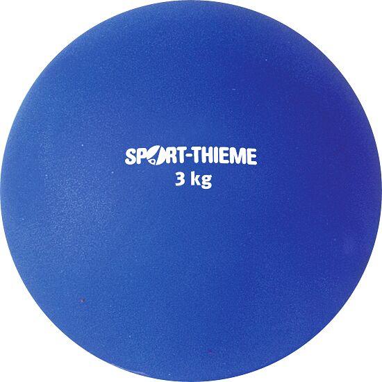 Sport-Thieme® Stoßkugel aus Kunststoff 3 kg, Blau, ø 121 mm