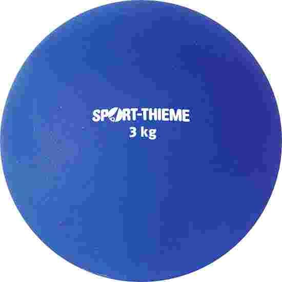 Sport-Thieme Stoßkugel aus Kunststoff 3 kg, Blau, ø 121 mm