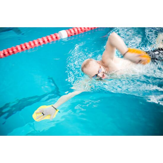 Sport-Thieme® Swim-Power® Paddles Size M, 21x18 cm, yellow